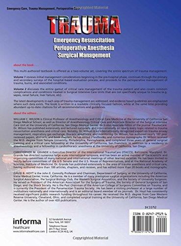 Trauma: Emergency Resuscitation, Perioperative Anesthesia, Surgical Management, Volume I (Volume 1)