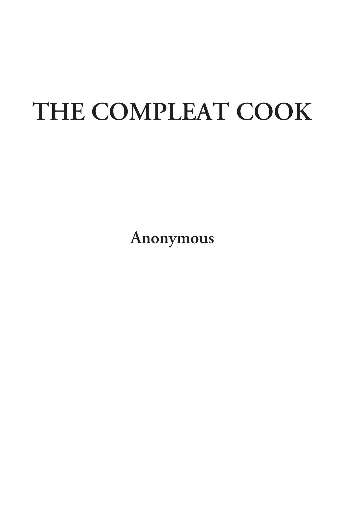 Download The Compleat Cook PDF