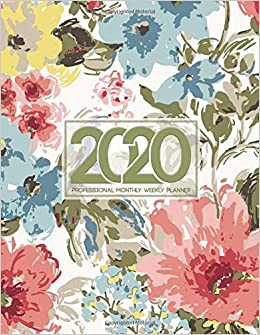 2020 Professional Monthly Weekly Planner: Daily monthly ...