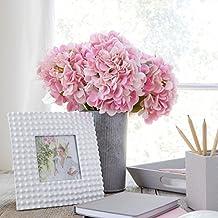 Artificial Hydrangea Silk Flowers for Wedding Bouquet, Flower Arrangements - Pink Color, 5 stems Per Bundle