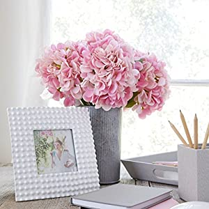 Butterfly Craze Artificial Hydrangea Silk Flowers for Wedding Bouquet, Flower Arrangements - Pink Color, 5 Stems per Bundle 43