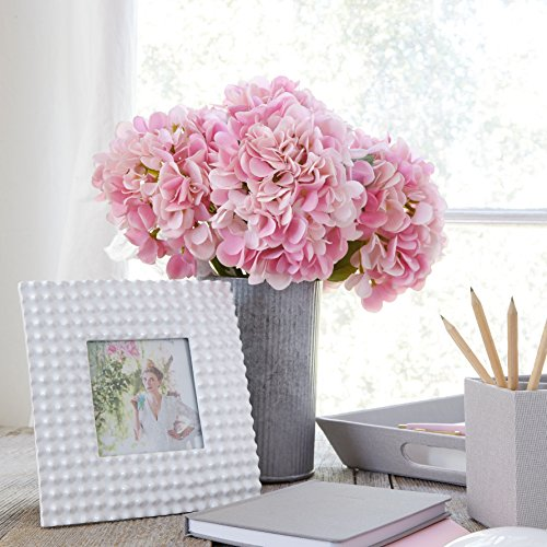Artificial Hydrangea Silk Flowers for Wedding Bouquet, Flower Arrangements - Pink Color, 5 stems Per Bundle (Bundles Flower)
