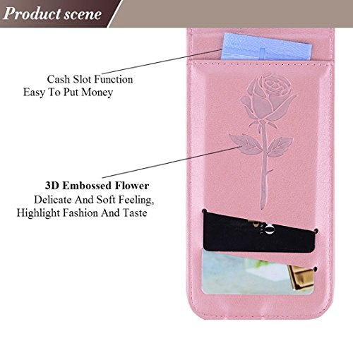 Wkae Roses Pressed Flowers Pattern Vertical Flip Leder Tasche mit Card Slot & Lanyard Für iPhone 6 Plus & 6s Plus ( Size : Ip6p6060p )
