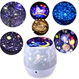 KISTRA Unicorn Star Night Lights for Kids with LED Timer, 360°Rotating Projector Night Lighting Lamps with Starry Moon Sky for Indoor Bedrooms, Best Gift Slippers for Baby, Girls, Boys