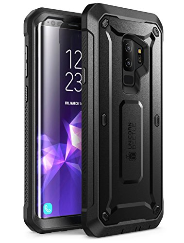 (SUPCASE Unicorn Beetle Pro Series Case Designed for Samsung Galaxy S9+ Plus, with Built-in Screen Protector Full-Body Rugged Holster Case for Galaxy S9+ Plus (2018 Release) (Black) )