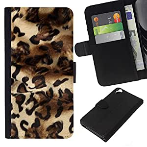 Planetar® Modelo colorido cuero carpeta tirón caso cubierta piel Holster Funda protección Para HTC Desire 820 ( Patrón Leopard Moda Piel vestido de Diseño )