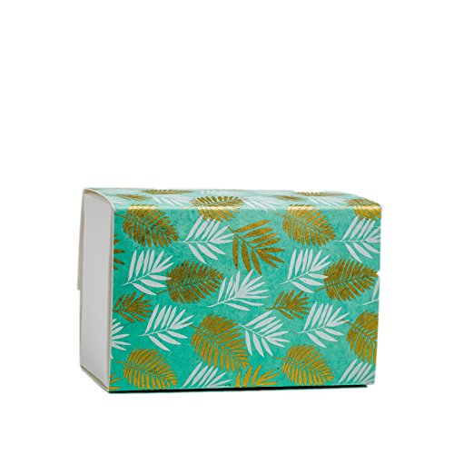 Lokta Box - The FAVORITE PLACE Burial Urn Box,(Large Lokta Leaf Urn Box) Biodegradable for Ground Burial, Scattering Cremated Ashes in Earth Friendly Eco Urn, Adult Size (Large, Aqua Gold/White)