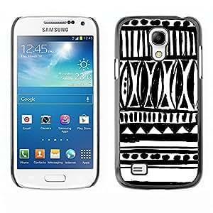 TopCaseStore / la caja del caucho duro de la cubierta de protección de la piel - White Native Pattern Inca Indian - Samsung Galaxy S4 Mini i9190 MINI VERSION!