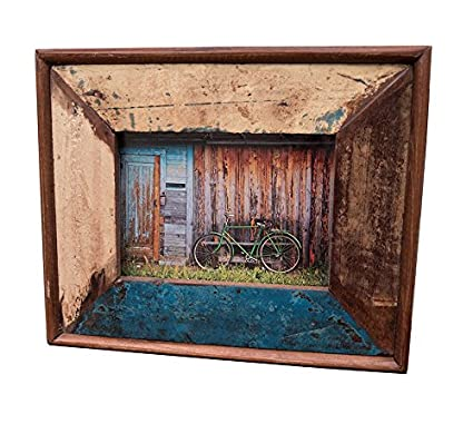Amazoncom ShopatZen Thick Hand Made Wood Multi Color Distressed - Thick wood table top