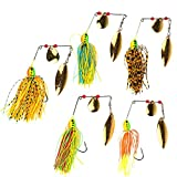 5pcs Fishing Hard Spinner Lure Spinner Bait Pike Bass