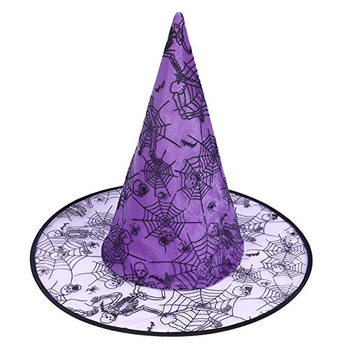 HDE Witch Hat Halloween Costume Cosplay Wicked Witch Accessory Adult One Size (Good Halloween Costumes For Women)