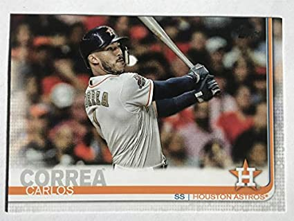 half off 881ea f626e Amazon.com: 2019 Topps #32 Carlos Correa NM/M (Near Mint ...