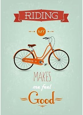 Cartel/Lienzo - para montar mi bicicleta ME hace sentir bien ...
