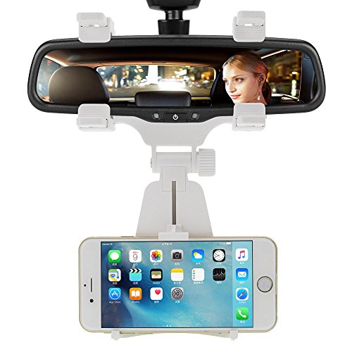 Car Mount, INCART Car Rearview Mirror Mount Truck Auto Bracket Holder Cradle for iPhone 6/6s/6s plus/ 5s/4s, Samsung Galaxy S6/S6 edge/S5/S4, Cell Phones,Smartphone, GPS / PDA / MP3 / MP4 ()