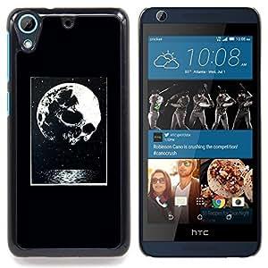 """Noche luna impresiones de Halloween"""" - Metal de aluminio y de plástico duro Caja del teléfono - Negro - HTC Desire 626 626w 626d 626g 626G dual sim"""