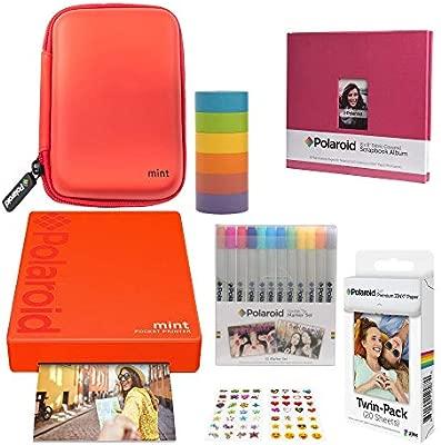 Polaroid Mint Impresora de Bolsillo Inalámbrica (Rojo) Álbum de ...