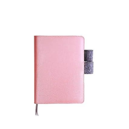 CXYBJB Cuaderno Cuaderno Espiral De Cuero Linda Carpeta De ...