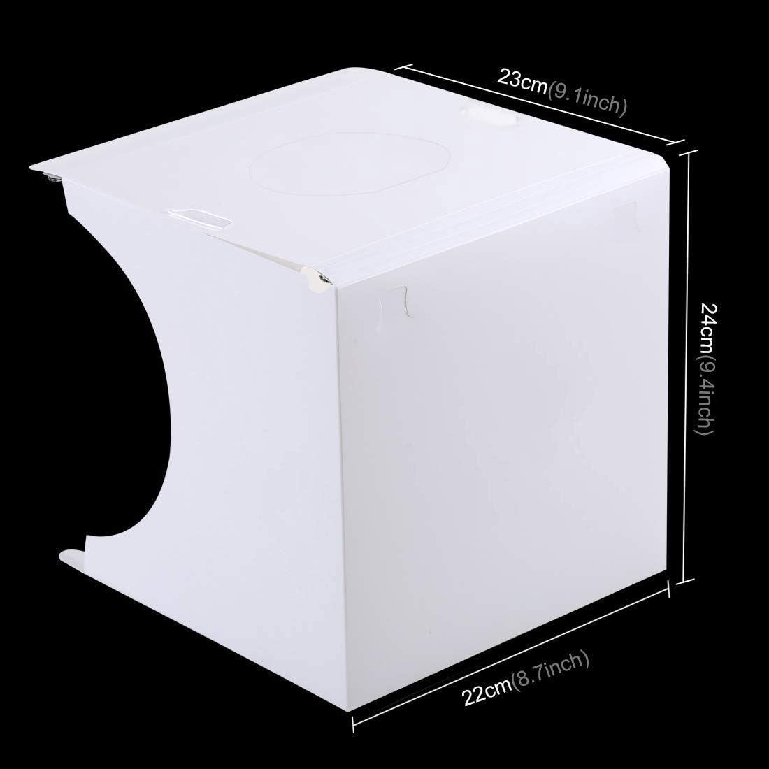 LED Foldable Mini Table Top Shooting Tent Kit for Product Photography HWZDQLK Portable Studio Photo Box