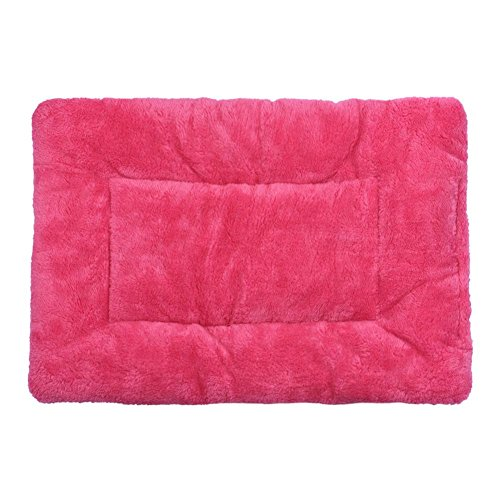 Mosunx Pet Dog Cat Cushion Blanket Bed Soft Warm Sleep Mat Free Shipping (Hot Pink)