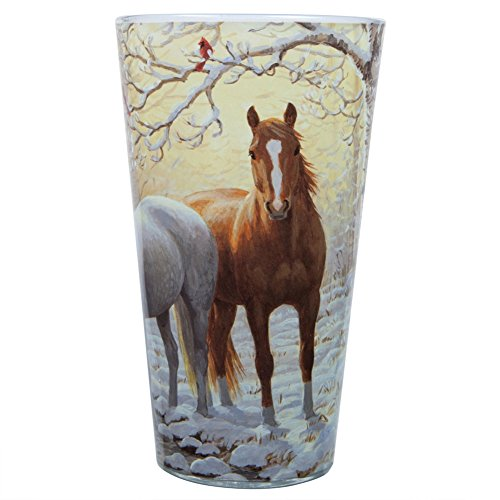 (Persis Clayton Weirs - Winter Horse Pint Glass)