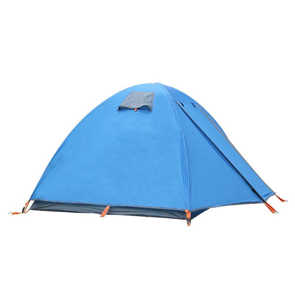 RFVBNM Outdoor ultraleichtes Doppel-Aluminium-Pol Zelt 2 Doppel professionelle Wind und Regen Sturm Camping Zelt