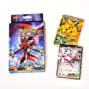 100 Pcs Pokemon EX GX MEGA Trainer Energy cards