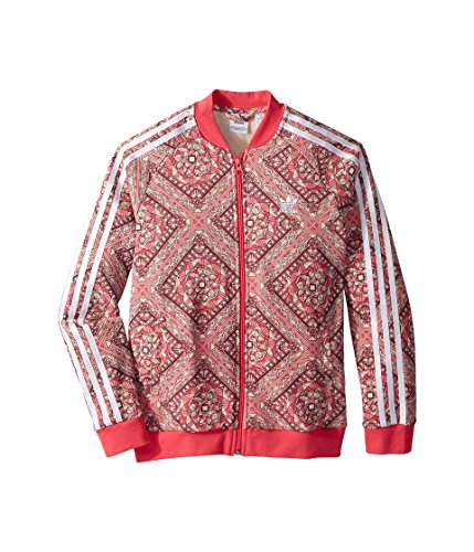 (adidas Originals Kids Girl's Superstar Stained Glass Track Top (Little Kids/Big Kids) Multicolor/Real Pink Small)