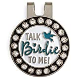 #6: Flamingo Creek Crystal Golf Ball Marker with Hat Clip   Fun Talk Birdie to Me Golf Gift Set for Women Includes 2 Golf Ball Markers and 1 Hat Clip