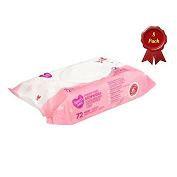 Parents Choice Powder Fresh Premium Thick Baby Wipes, 72 count (Pack of ...