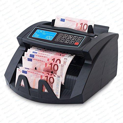 Geldzählmaschine Geldzähler Geldscheinzähler SR-3750 LCD UV/MG/IR von Securina24® (Schwarz - LCD)