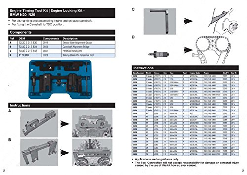 PMD Products Vanos Cam Camshaft Timing Locking Master Tool is Compatible  with Repair and Replace of BMW Engine N20 N26