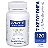 Pure Encapsulations - 7-Keto DHEA (DHEA-Acetate-7-one) 50 mg - Unique DHEA Metabolite - Hypoallergenic Dietary Supplement - 120 Capsules