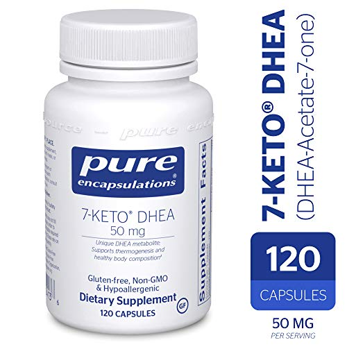 - 7-KETO DHEA (DHEA-Acetate-7-one) 50 mg - Unique DHEA Metabolite - Hypoallergenic Dietary Supplement - 120 Capsules ()