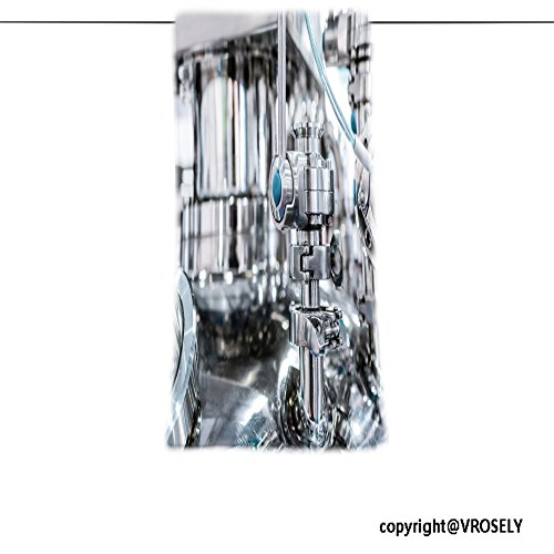 Vroselv Custom Towel Soft And Comfortable Beach Towel Steel Pipe With A Stopcock On The Cover Of The Pharmaceutical Reactor Abstr Design Hand Towel Bath Towels For Home Outdoor Travel Use 13 8 X27 6