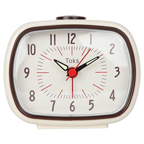 Lily's Home Quiet Non-ticking Silent Quartz Vintage/Retro Inspired Analog Alarm Clock - Ivory