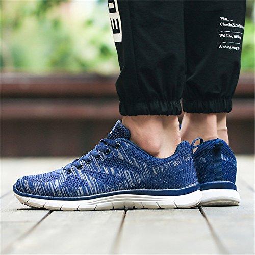 Uomo Ginnastica Running Allacciare 43 Scarpe Blu da Atletico Cushion EU Sneakers Sportive Donna populalar 36 Air FY8addgq