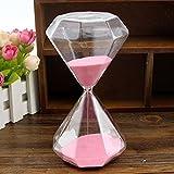 Bloss Elegant Diamond Shape Glass Hourglass Great Gifts for Lovers, Friends, Teacher