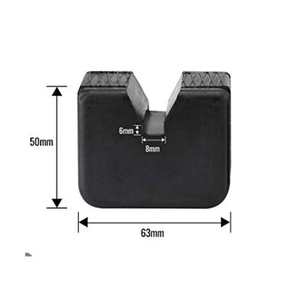 Rubber Pads for Vehicle Repair MIGHTYDUTY 2 Pack Jack Pads for Jack Stands,Universal Slotted Frame Rubber Frame Rail Protector Pinch Weld Protector