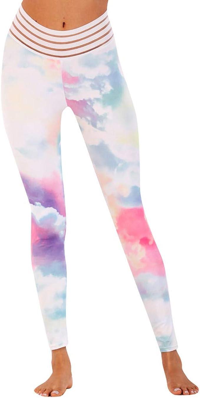 Fossen MuRope Pantalones Mujer Camuflaje de Malla de Empalme Yoga Largo Oto/ño Invierno Pants Casual para Chicas y Mujeres Leggings Deporte Skinny Fitness de Vestir