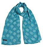 Mulberry Tree Print Fashion Scarf (Turquoise)