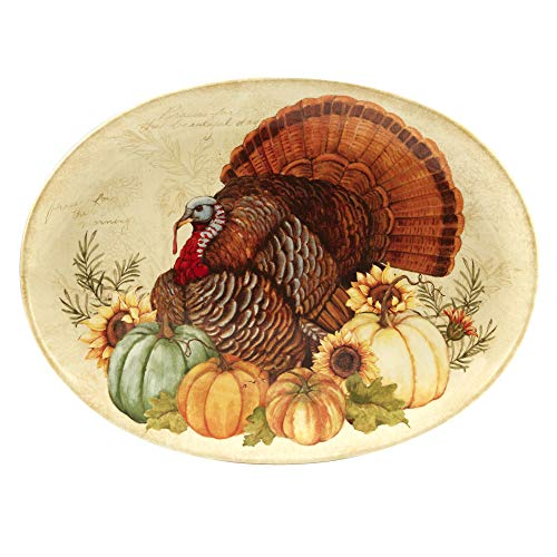 - Certified International 22749 Autumn Fields Oval Turkey Platter 18