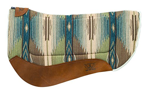 Weaver Leather All Purpose Contoured Barrel Saddle Pad, Teal/Green