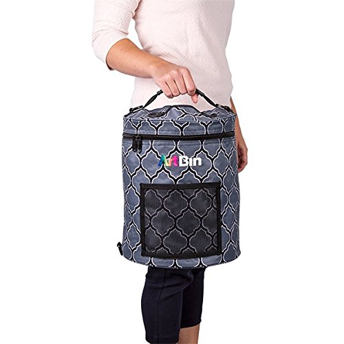 ArtBin 6804SA Yarn Drum Knitting & Crochet Tote Bag, Gray Print Flambeau Inc.