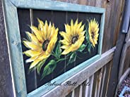 Sunflower on Teal