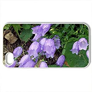 Bellflower - Case Cover for iPhone 4 and 4s (Flowers Series, Watercolor style, White)