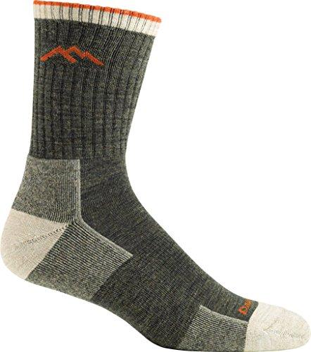 Darn Tough Men's Merino Wool Hiker Micro Crew Cushion Sock (Style 1466) - 6 Pack (Olive, Large) by Darn Tough