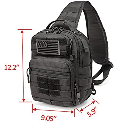 CRAZY ANTS Tactical Sling Bag Rover Molle Pack Shoulder Sling Backpack for Man