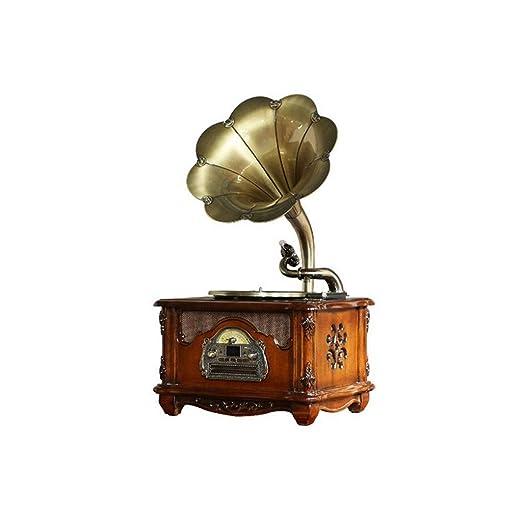 HYLH Tocadiscos, Tocadiscos Vinilo Gramófono Altavoces estéreo ...
