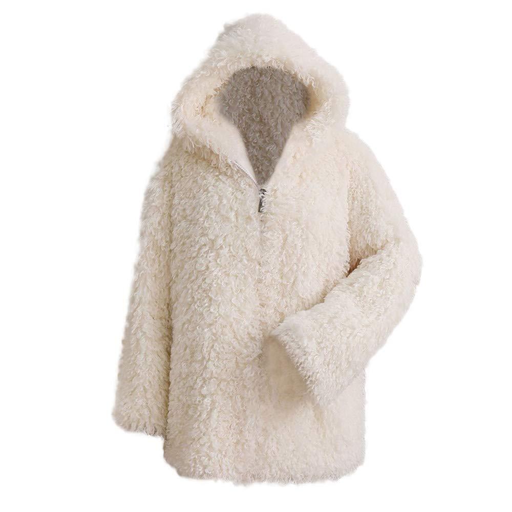 Whites Small Women Winter Warm Thicken Coats Sale KIKOY Solid Overcoat Jacket Cardigan Coat