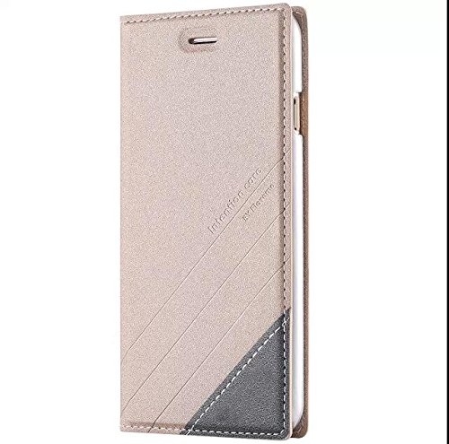 iphone 7 Plus Case Aroko Anti-magnetic Card Pocket Premium Magnetic Wallet PU Leather Card Slots Holder Full Protection Kickstand Feature Cover For iphone 7PLUS 5.5inch (iphone 7 plus 5.5inch, Gold)